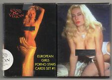 EUROPEAN GIRLS PORNO STARS 27 CARDS SET CARTE DA COLLEZIONE ATTRICI HARD MOANA