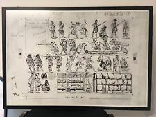 Stampa in carta puro cotone Tavole disegni Hugo Pratt - Drawings Hugo Pratt