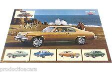 1973 Chevrolet Nova Original Poster - Sales Sheet Brochure - 11x18