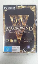 The Elder Scrolls 3 III Morrowind Game Of The Year Edition GOTY PC Game (NEW)