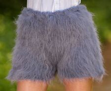 SUPERTANYA GRAY Hand Knitted Mohair Pants Fuzzy Underwear Fuzzy Shorts ON SALE