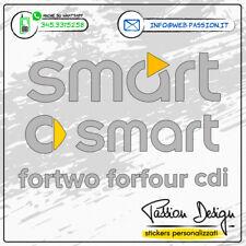 Adesivi Stickers Logo Smart SDIForTwo ForFour Personalizzabili per Auto