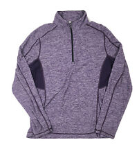 Lululemon Mens Surge Warm 1/4 Zip Long Sleeve Pullover Purple Size XL Reflective