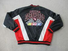 VINTAGE Nascar Jacket Adult Extra Large Black Red Dale Earnhardt Coat Mens 90s*