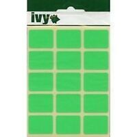 OBLONG STICKY LABELS 19 x 25mm FLUORESCENT GREEN SELF ADHESIVE STICKERS