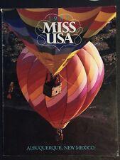 1987 MISS USA PROGRAM BOOK
