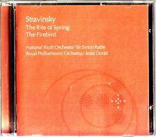 STRAVINSKY-The Rite Of Spring/The Firebird- CD-NYO/Simon Rattle-RPO/Antal Dorati