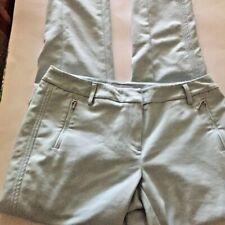 Adrienne Vittadini Womens Chino Pants Blue Pastel Mid Rise Slim Leg Slacks  4