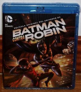 Batman Vs Robin New Blu-Ray Sealed Animation Aventuras (Sleeveless Open) R2