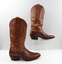 Men's Nocona Brown Lizard Leather Cowboy Western Boots Size: 7D