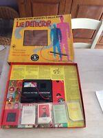 Rarissimo gioco da tavola LIE DETECTOR 1serie mattel anni 60 completo collezione