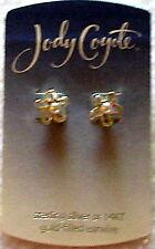 Jody Coyote Sterling Silver imitation Pearl Flower Earrings Pierced stud New