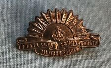 Rarer Circa Ww1 Rising Sun Australian Commonwealth Military Forces Pin