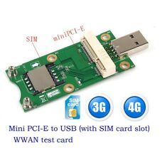 Mini Wireless PCI-E to USB Adapter with SIM Card Slot for 3G 4G WWAN/LTE Module