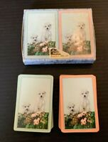Vintage Poodle Dog Imperial Double Deck Playing Cards With Box