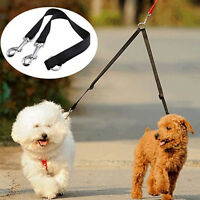 laisse pour chien-Sangle double--promenade-laisse-double-harnais-éducation