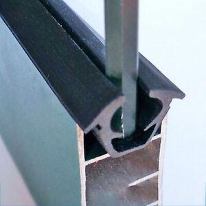 Black uPVC Window Door Gasket Seal Strip EPDM Fixed Glass Shockproof Waterproof