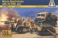 Italeri 7027 1/72 Scale Model Kit WWII British Morris Quad Tractor w/25 pdr. Gun