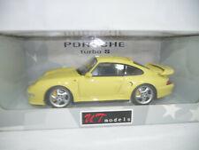 1996 PORSCHE 911 993 TURBO S YELLOW 1:18 UT-MODELS 27836 VERY RARE