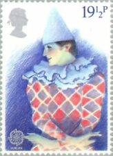 GREAT BRITAIN -1982- British Theater (Europa C.E.P.T. 1982) Harlequin - MLH #988