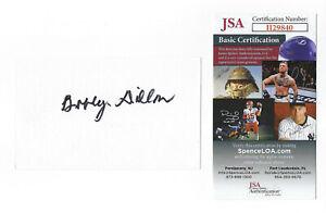 PACKERS Bobby Dillon signed 3x5 index card AUTO JSA COA AUTO Green Bay HOFer