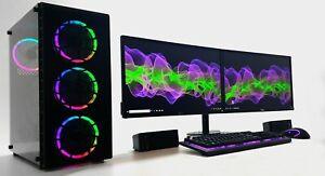 "GAMING PC Set 2x22"" TFT i5-3470 12GB RAM 120 SSD 500 GB 4GB GDDR5 GTX 1650 WIN10"