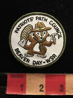 Patriots Path Council Beaver Day WSR BSA Boy Scouts Patch 87N4