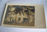 Rare Antique Vintage RPPC Real Photo Postcard Home Sweet Home House Trees