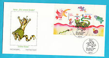 Germania DEUTSCHLAND 2001 fur unsere kinder stamps first day cover grune katze