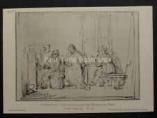 Drawings by Rembrandt CHRIST CONVERSING WITH MARTHA & MARY British Museum