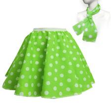 CHILDRENS GIRLS POLKA DOT ROCK AND ROLL 50s/60s SKIRT/SCARF FANCY DRESS COSTUME