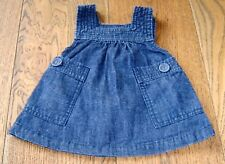 COUNTRY ROAD BABY GIRLS DENIM PINAFORE DRESS SZ 0 - 3 MONTHS