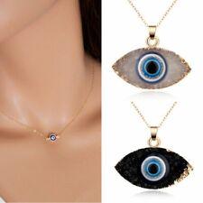 Lucky Evil Eye Chain Necklace Women Choker Collar Chunky Pendants Jewellery