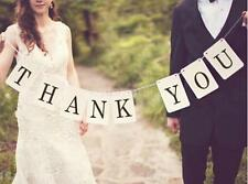THANK YOU Banner Bunting Garland Cards Rustic Wedding Party Photo Props