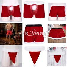 Rouge Noël Homme Vêtement De Nuit Sous-Vêtements Costume Cosplay Boxer Shorts