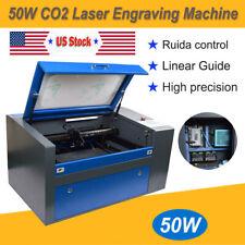 50W CO2 Laser Engraving Machine 5030 USB Laser Cutter Ruida DSP Control System