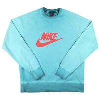 ***Nike***Spell Out Turquoise Sweatshirt Oversized Vintage 2000s Y2k Hipster USA