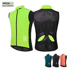 Mens Reflective Cycling Vest New Breathable MTB Bike Gilet Bicycle Waistcoat