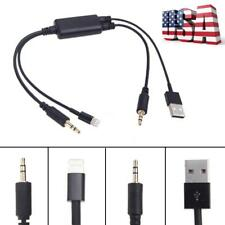 For BMW 3 Series Mini iPhone iPod Car USB 3.5MM AUX Adapter Interface Cable W8P5