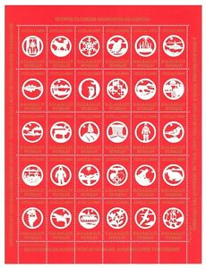 Sheet C94 Greenland 1990 Poster Revenue Stamps Semi Postal CHRISTMAS