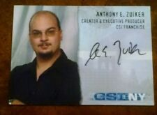 CSI NEW YORK ANTHONY E. ZUIKER  AUTOGRAPH CARD CSI-NY-A2