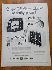 1953 GE General Electric Clocks Ad  The Wink & The New Cue