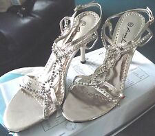 ANNA MICHELLE - GOLD DIAMANTE SHOES/ SANDALS / MULES - SIZE 5 / 38 - BRAND NEW