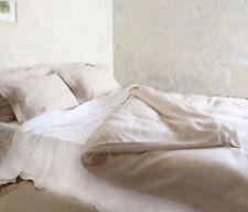 100% Leinen einfache Bettlaken 220x240 cm  Weiß  Flax Neu