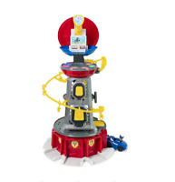 NIB PAW Patrol Mighty Pups Super Lookout Tower Playset with Lights & Sounds