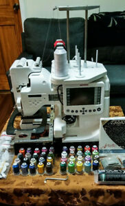 Janome MB4S 4-Needle Embroidery Machine [BIG BUNDLE] 6 Months Use, A- Condition