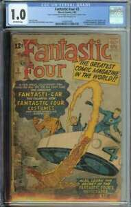 Fantastic Four #3 CGC 1.0 1st App Costumes Miracle Man