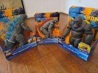 Godzilla vs Kong Mega Godzilla & Mega Kong Figure with Lights & Sounds w/Mecha G