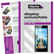 2x THL T6C Schutzfolie klar Displayschutzfolie Folie dipos Displayfolie