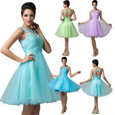 Women's Short Tulle Cocktail Party Formal Evening Ball Prom Dresses Wedding Gown